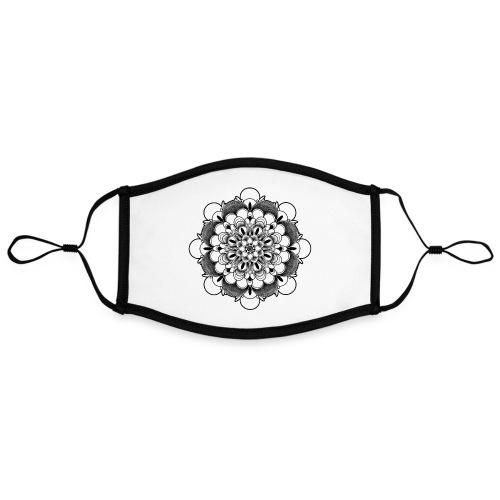 Zen Mandala - Contrasterend mondkapje, instelbaar (Large)