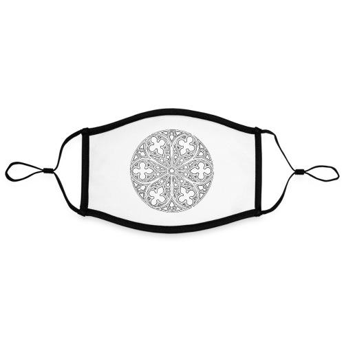 Chthonic-venster - Contrasterend mondkapje, instelbaar (Large)