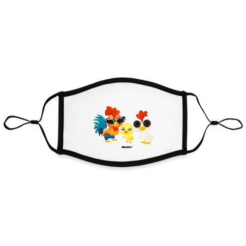 Kurczak - autorstwa Momio Designer Emeraldo. - Kontrastowa maska, regulowana (rozmiar L)