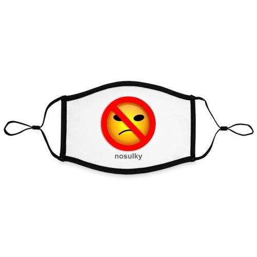 nosulky - Masque contrasté, réglable (taille L)