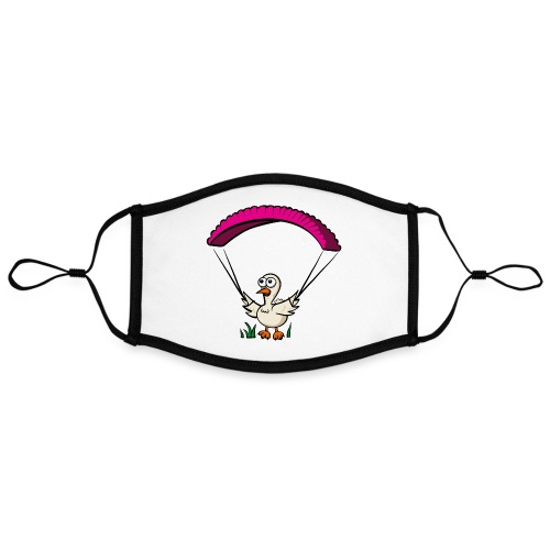 Groundhendl Groundhandling Hendl Paragliding Huhn - Kontrastmaske, einstellbar (Large)
