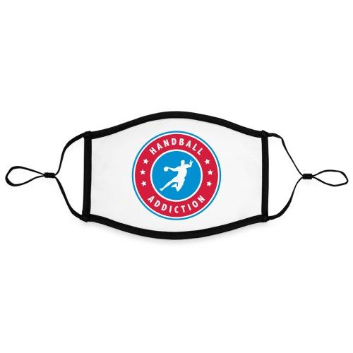 handball addiction - Masque contrasté, réglable (taille L)