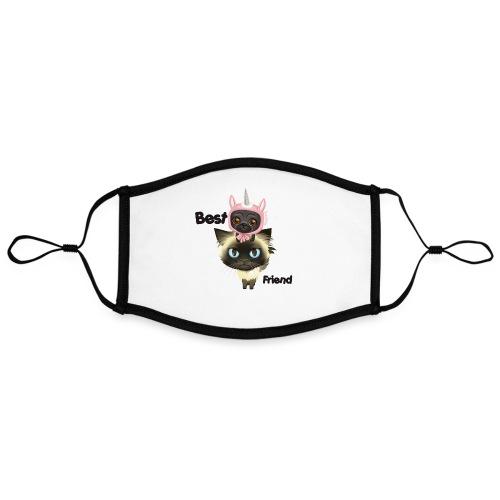 Best friend by BrightSoull. - Kontrastowa maska, regulowana (rozmiar L)