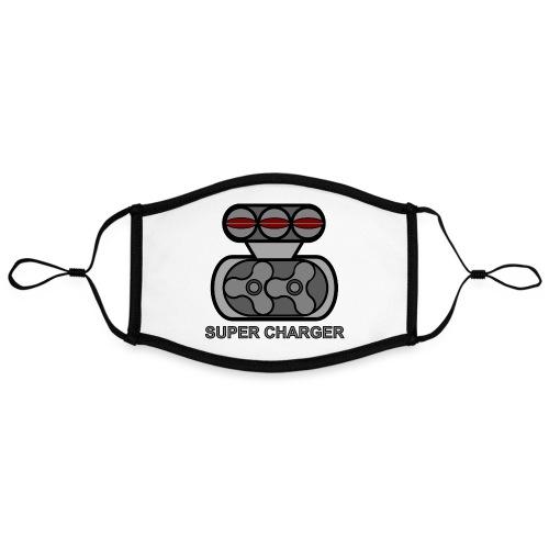 SUPER CHARGR - Mascherina in contrasto cromatico, regolabile (grande)