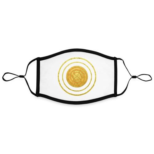 Glückssymbol Sonne - positive Schwingung - Spirale - Kontrastmaske, einstellbar (Large)