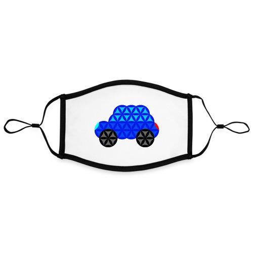 The Car Of Life - M01, Sacred Shapes, Blue/R01. - Contrast mask, adjustable (large)