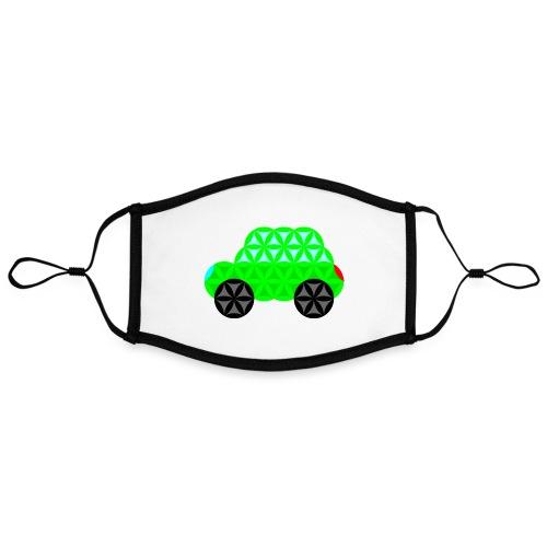 The Car Of Life - M01, Sacred Shapes, Green/R01. - Contrast mask, adjustable (large)