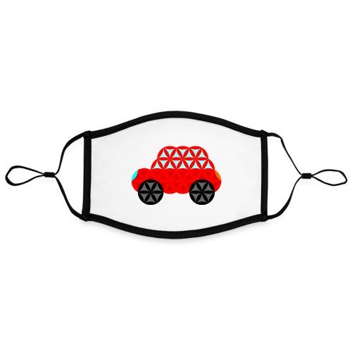 The Car Of Life - M01, Sacred Shapes, Red/R01. - Contrast mask, adjustable (large)