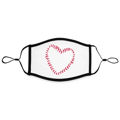 2581172 1029128891 Baseball Heart Of Seams - Contrast mask, adjustable (large)