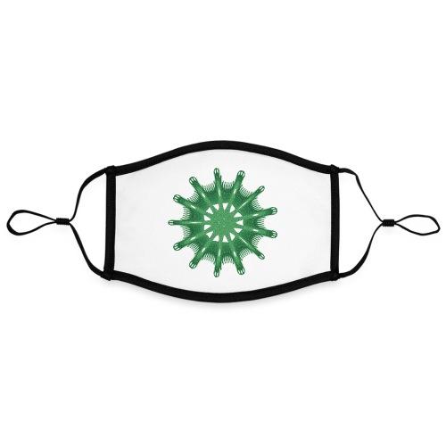 green steering wheel Green starfish 9376alg - Contrast mask, adjustable (large)