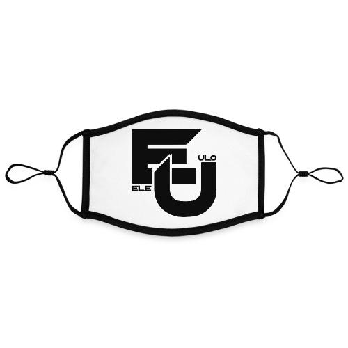 Ele & Ulo -fanituotteet! - Kontrastivärinen maski, säädettävä (large)