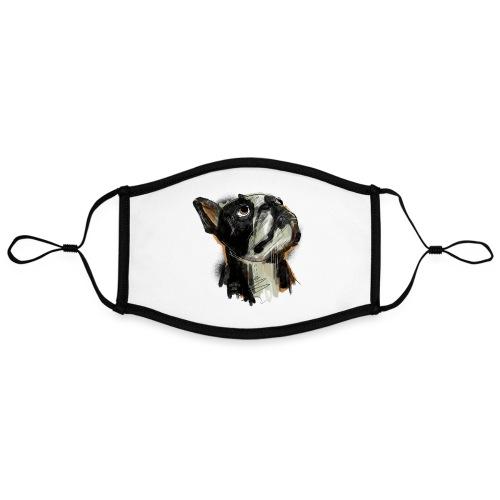 Französische Bulldogge Zeichnung - Kontrastmaske, einstellbar (Large)