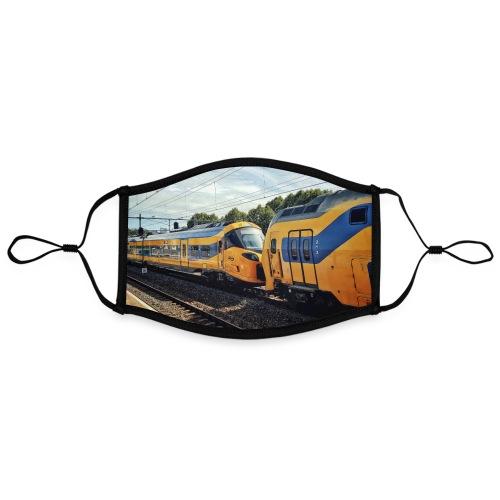 Nieuwe Intercity gesleept door Weesp - Contrasterend mondkapje, instelbaar (Large)