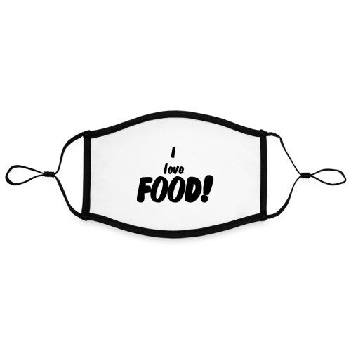 I love FOOD - Kontrastmaske, kan innstilles (stor)