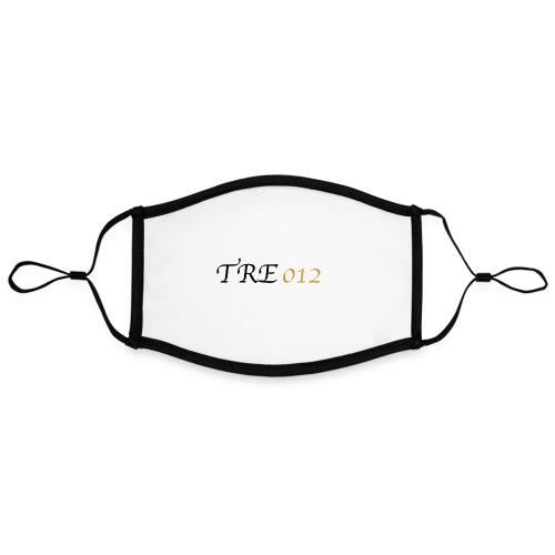 TRE012 - Mascherina in contrasto cromatico, regolabile (grande)