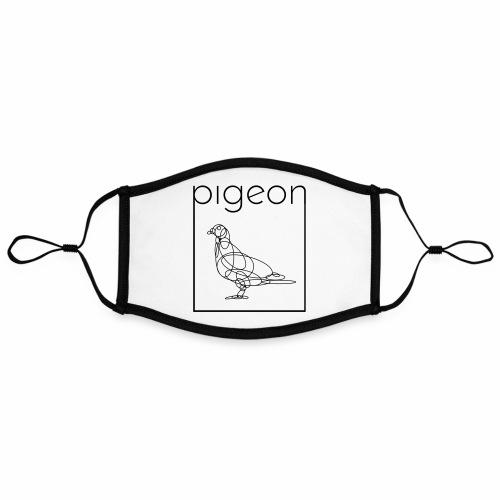 Pigeon2 - Contrasterend mondkapje, instelbaar (Large)