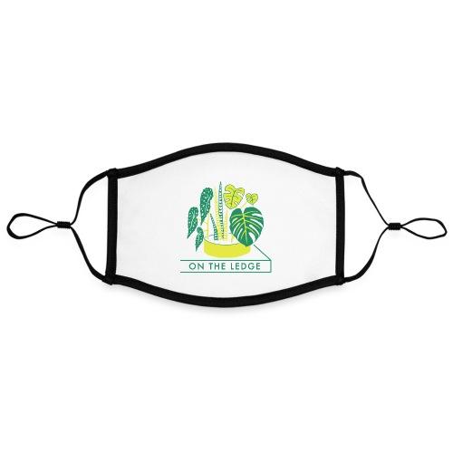 On The Ledge green logo print - Contrast mask, adjustable (large)