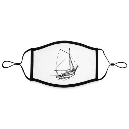 Sailing boat Printdesign - Kontrastmaske, einstellbar (Large)