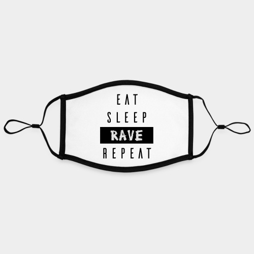 EAT SLEEP RAVE REPEAT - Kontrastmaske, einstellbar (Large)