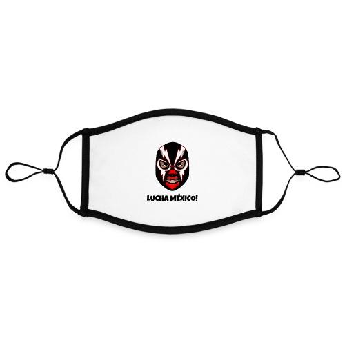 Máscara Luchador | Lucha Libre México - Mascarilla contraste, ajustable (grande)
