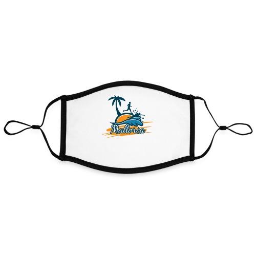 Joggen auf Mallorca - Sport - sportlich - Jogging - Kontrastmaske, einstellbar (Large)