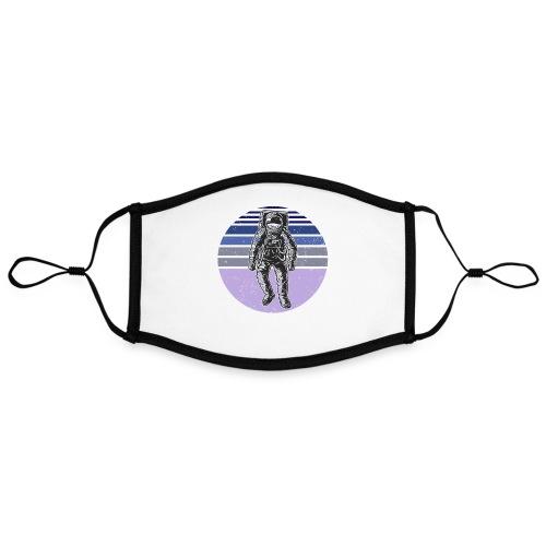 Astronaut Vintage Retro Weltraum Geschenkidee - Kontrastmaske, einstellbar (Large)