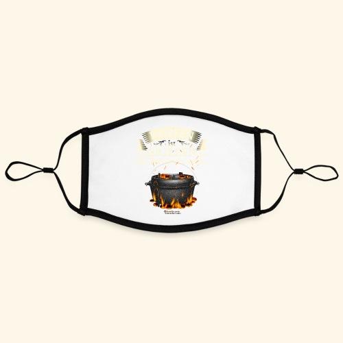 Grill Spruch Dopfen - Grillen für Fortgeschrittene - Kontrastmaske, einstellbar (Large)
