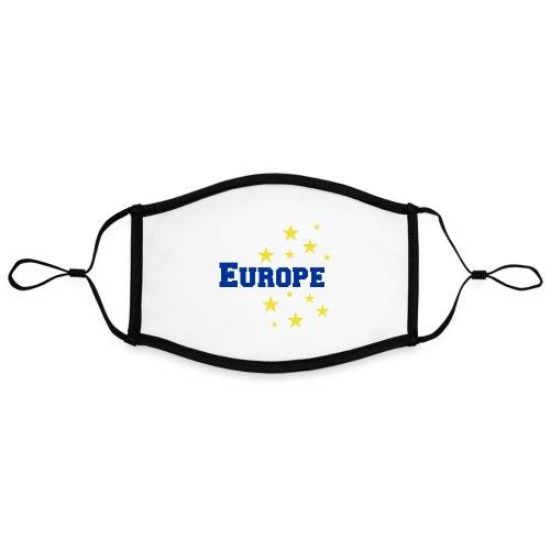 Europe - Mascarilla contraste, ajustable (grande)