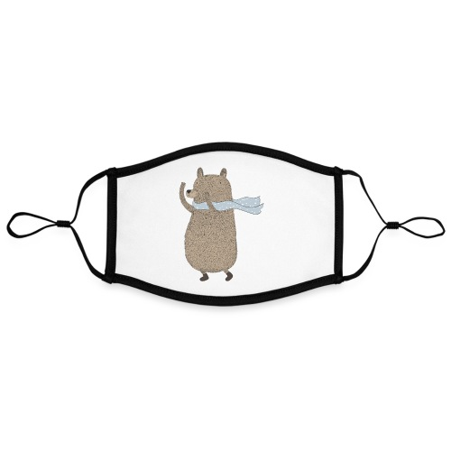 Fluffy Cuddle Bear by #OneCreativeArts - Kontrastmaske, einstellbar (Large)