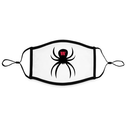 Spider black / red - Kontrastmaske, einstellbar (Large)