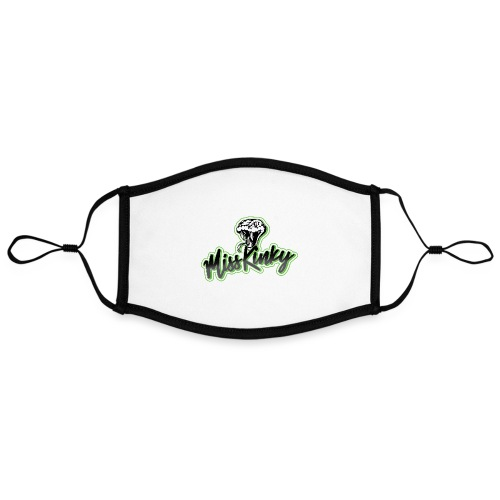 Logo Miss Kinky vert - Masque contrasté, réglable (taille L)