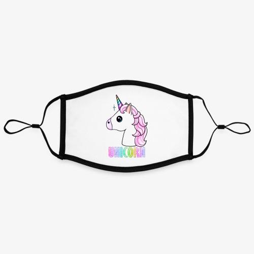 Unicorn - Mascherina in contrasto cromatico, regolabile (grande)