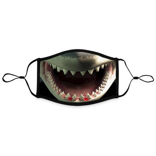 #JAWS By #ZEROMASKS≠ - Mascherina in contrasto cromatico, regolabile (grande)