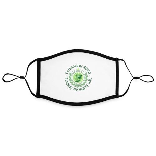 Motto: Durchhalten - Kontrastmaske, einstellbar (Large)