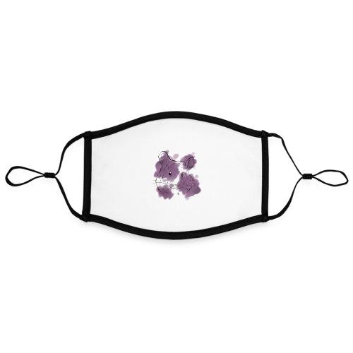 Violet splash chinchilla - Kontrastivärinen maski, säädettävä (large)