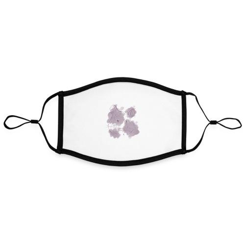 Violet splash chinchilla 2 - Kontrastivärinen maski, säädettävä (large)