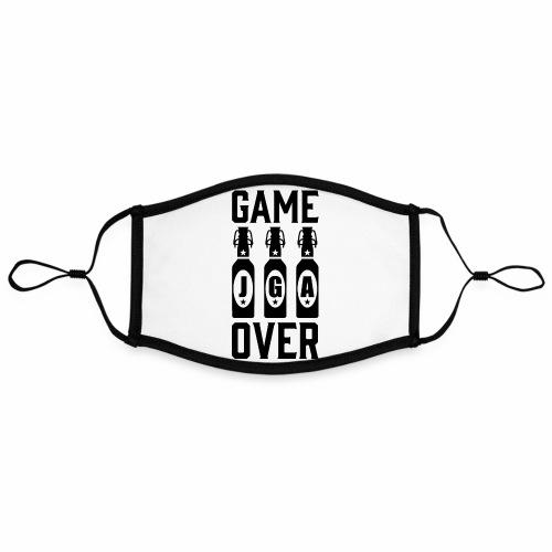 01 Game Over JGA Bierflaschen schwarz - Kontrastmaske, einstellbar (Large)