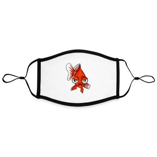 Angry Fish - Masque contrasté, réglable (taille L)