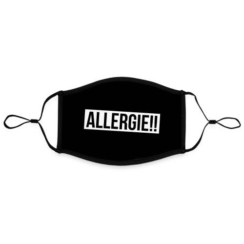 Allergie - Achtung Grippe Corona Gesichtsmaske - Kontrastmaske, einstellbar (Large)