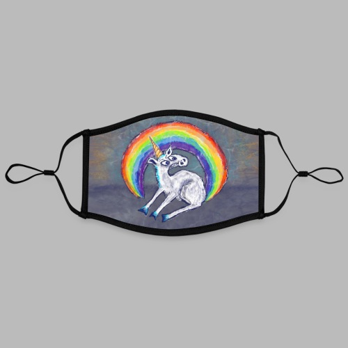 Reluctant Rainbow [face mask] - Contrast mask, adjustable (large)