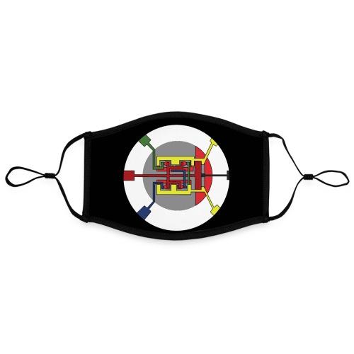 Jackjohannes Hemp 'Oscillator' mondmasker - Contrasterend mondkapje, instelbaar (Large)