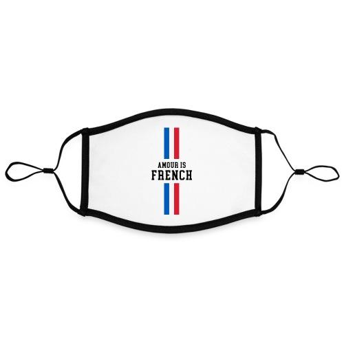 NOUVEAU masque Amour. is French - Masque contrasté, réglable (taille L)
