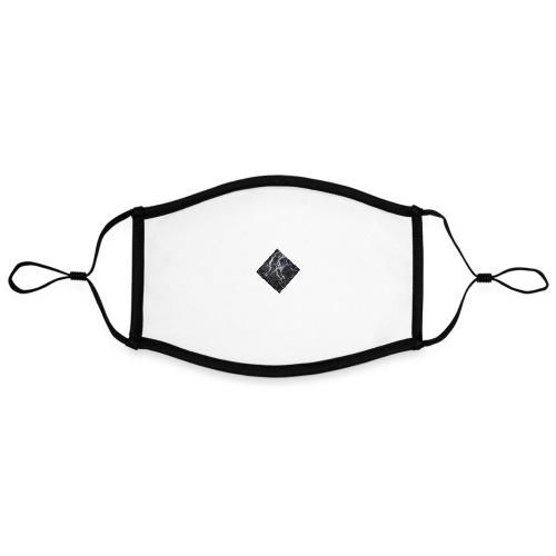 marble - Contrasterend mondkapje, instelbaar (Large)