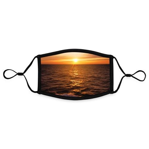 Sonnenuntergang Mittelmeer Welle Meer Sonne Poster - Kontrastmaske, einstellbar (Small)
