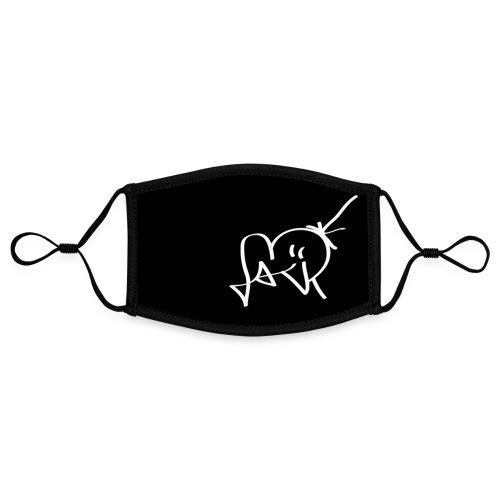 Jackjohannes Hemp signatuur zwart - Contrasterend mondkapje, instelbaar (Small)
