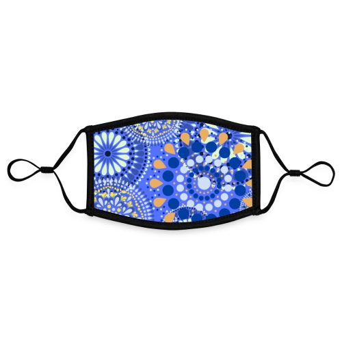 Fleur Hippie bleu - Masque contrasté, réglable (taille S)