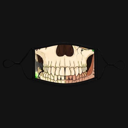Crâne steampunk - Masque contrasté, réglable (taille S)