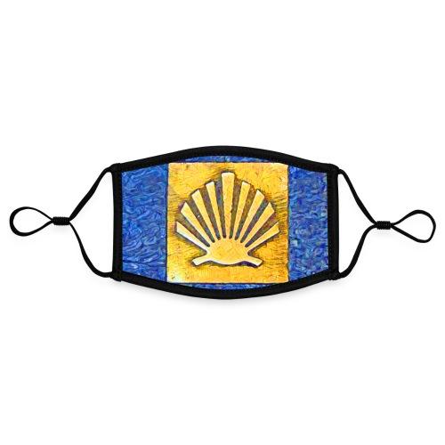 Scallop Shell Camino de Santiago - Contrast mask, adjustable (small)