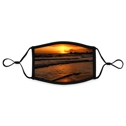 Roter Sonnenuntergang Sizilien Urlaub Strand Meer - Kontrastmaske, einstellbar (Small)