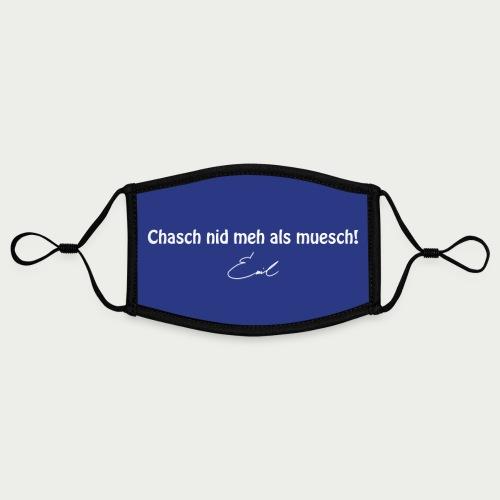 Emil Steinberger Chasch nid meh als muesch - Kontrastmaske, einstellbar (Small)